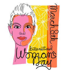 international womens day fashionable woman vector image