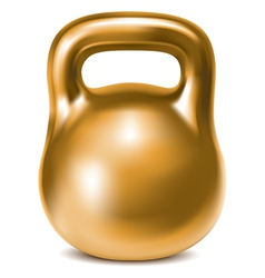 Kettlebell weight gold vector