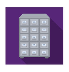 Library catalog icon in flat style isolated on vector