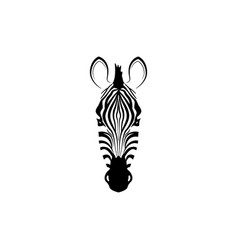 logo with the head of a zebra vector image