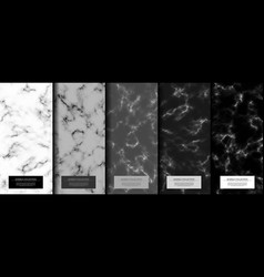 marble collection abstract pattern texture grey vector image