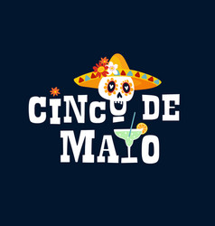 mexican holiday cinco de mayo greeting card vector image
