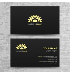 Modern Business Cards Templates Set vector