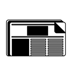 Newspaper daily isolated icon vector