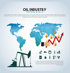 oil industry infographic extraction financial vector image