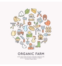 Organic farm icon vector image