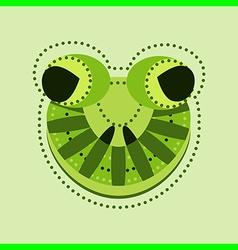 ornate frog head vector image
