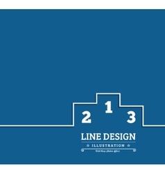 Pedestal thin line icon vector image
