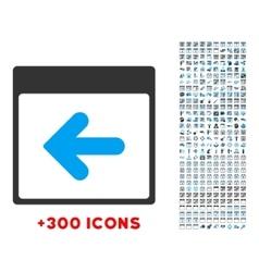 Previous day icon vector