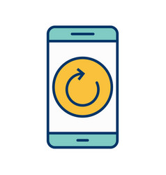 Reset mobile application icon vector
