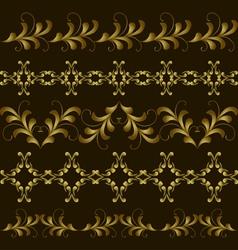 set gold border vector image vector image