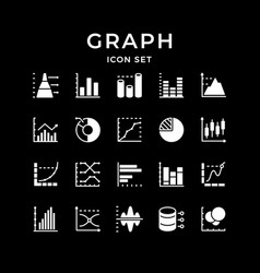 set icons graph and diagram vector image