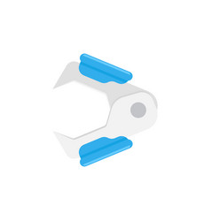 Staple remover isolated on white background vector