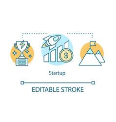 Startup concept icon vector