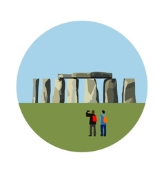 Stonehenge icon isolated on white background vector image