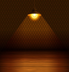 The lamp in the room vector image
