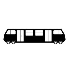 Train icon simple style vector