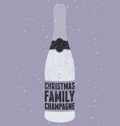 typographic retro grunge christmas poster vector image