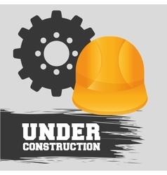 Under construction design work vector