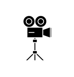 Video shooting black icon sign on isolated vector