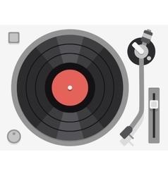 Vinyl turntable Flat vector image