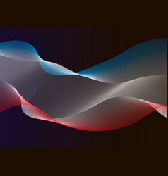 waving flag of crimea on dark background template vector image