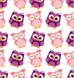 colorful owl pattern on vector image