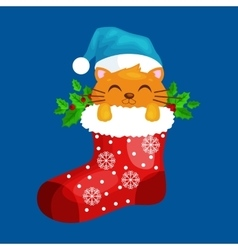 Merry Christmas and happy new year animals vector image