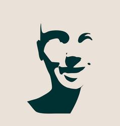 beautiful smiling woman face vector image