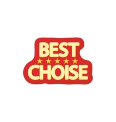 Best choice icon cartoon style vector image vector image