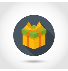 Gift box colorful icon vector image vector image