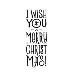 Merry Christmas Retro Poster Black and vector image vector image