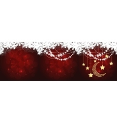 red christmas cards vector image