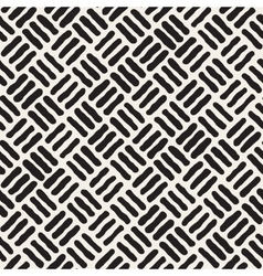 Seamless Black And White Hand Drawn vector image vector image