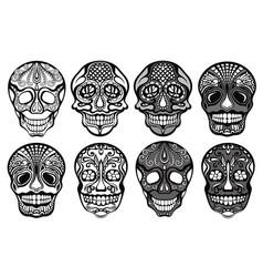 sugar skulls set vector image