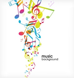 Abstract background with tunes vector image