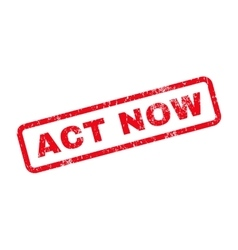 Act now text rubber stamp vector