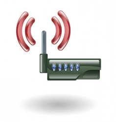 router illustration vector image vector image