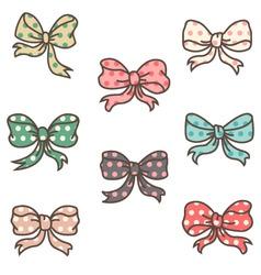 cute ribbons set vector image