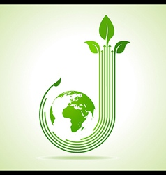 Ecology Concept business concept vector image