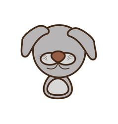 face doggy cartoon animal vector image vector image