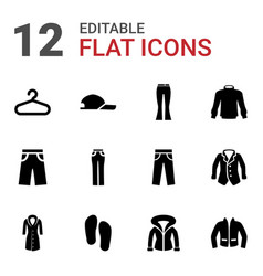 12 casual icons vector image