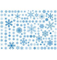 150 snowflakes vector image
