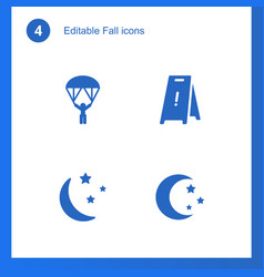 4 fall icons vector