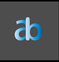 A b joint letter logo abstract design vector