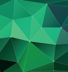 Abstract Triangle Geometrical green vector image