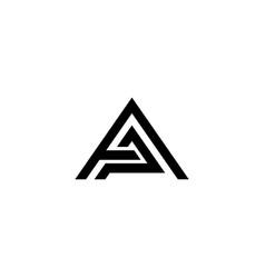 Ap letter logo design template vector