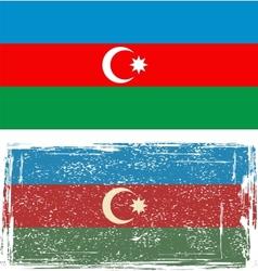 Azerbaijan grunge flag vector