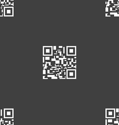 Barcode Icon sign Seamless pattern on a gray vector image