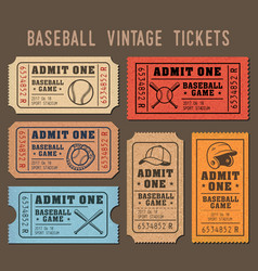 baseball invite tickets vector image